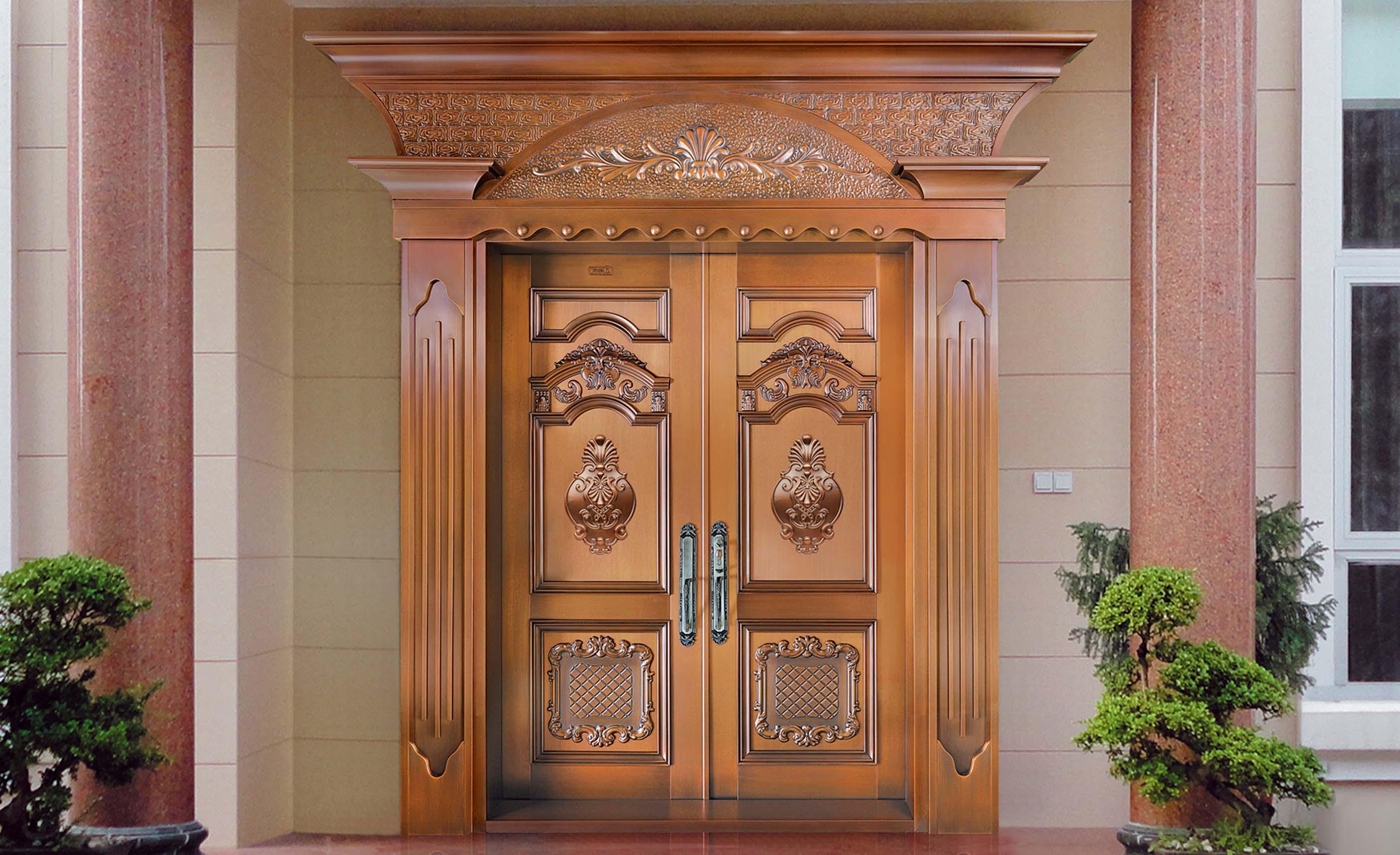 k020名门望族,别墅铜门,豪华铜门,双开铜门
