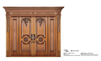L003名流府邸,别墅铜门,豪华铜门,四开铜门