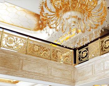 A002四季花城/楼梯护栏/金属楼梯/酒店楼梯护栏