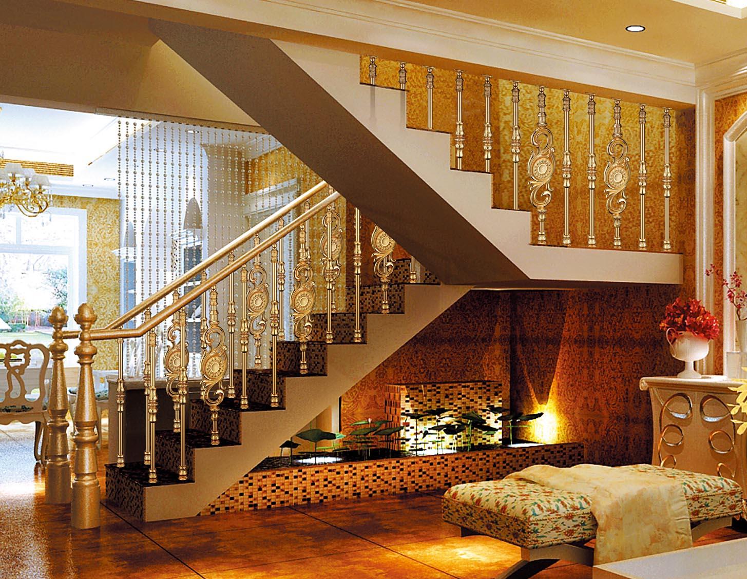 B001东方明珠/楼梯护栏/金属楼梯/复式豪宅楼梯护栏