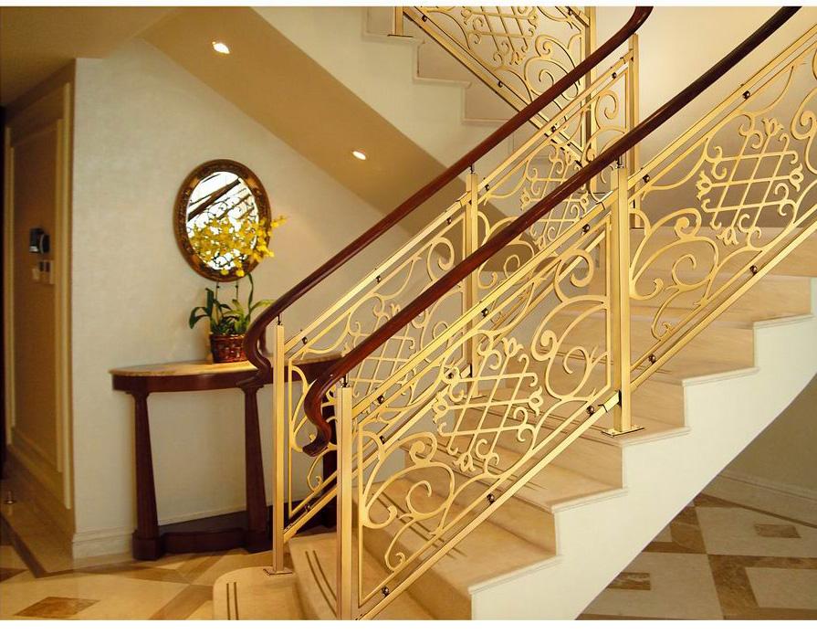 836米兰印象/楼梯护栏/金属楼梯/复式豪宅楼梯护栏