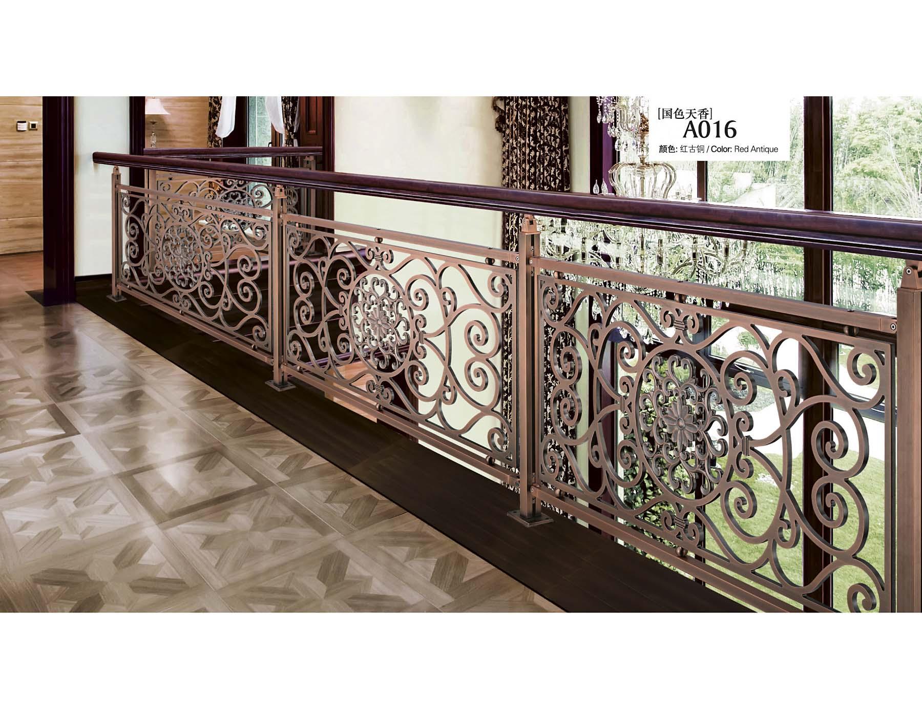 A016国色天香/楼梯护栏/金属楼梯/复式豪宅楼梯护栏