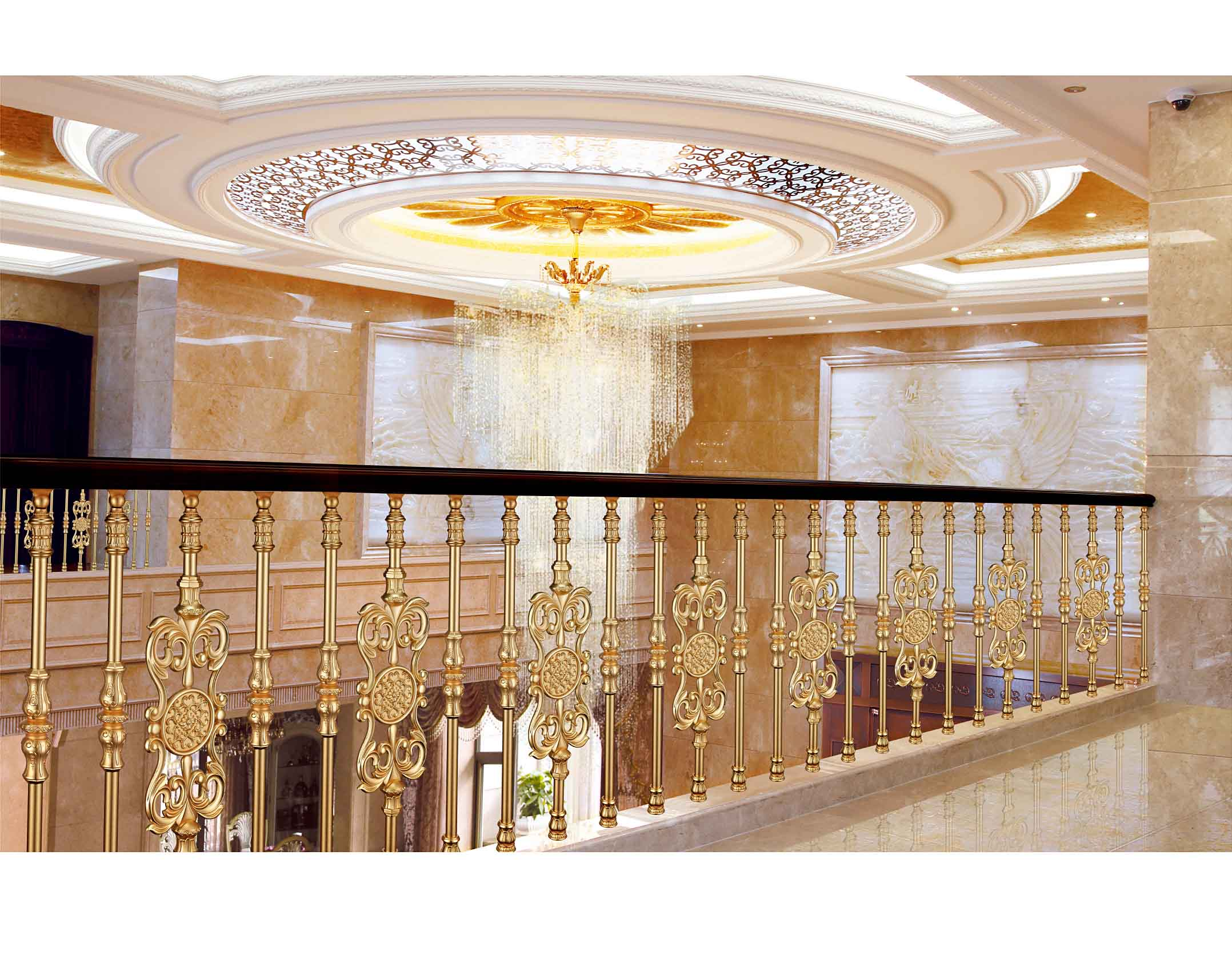 B002翡翠龙湾/楼梯护栏/金属楼梯/酒店楼梯护栏