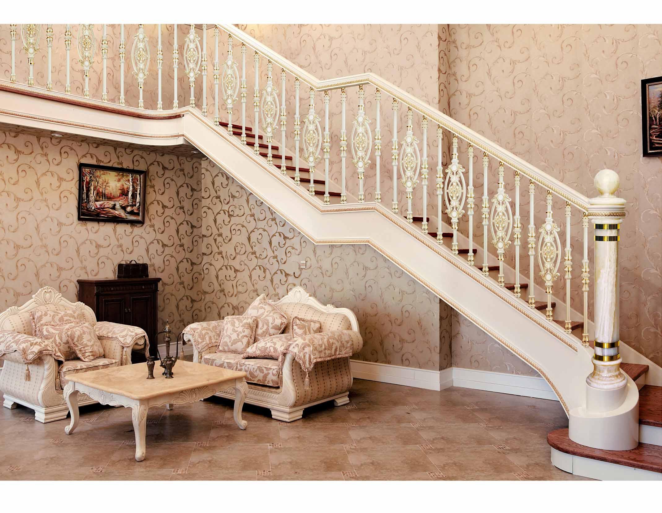 B004慧谷蓝庭/楼梯护栏/金属楼梯/复式豪宅楼梯护栏