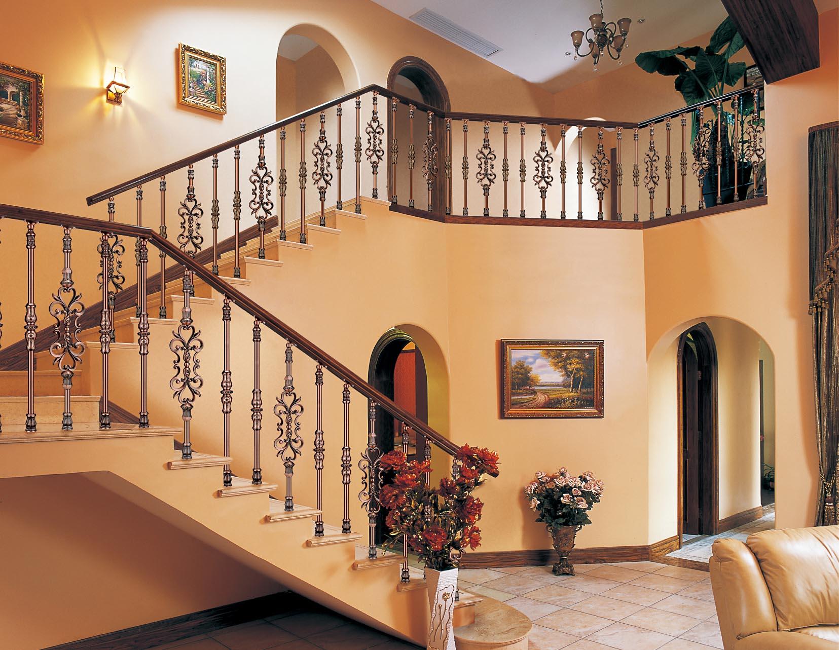 B009南苑时代/楼梯护栏/金属楼梯/复式豪宅楼梯护栏