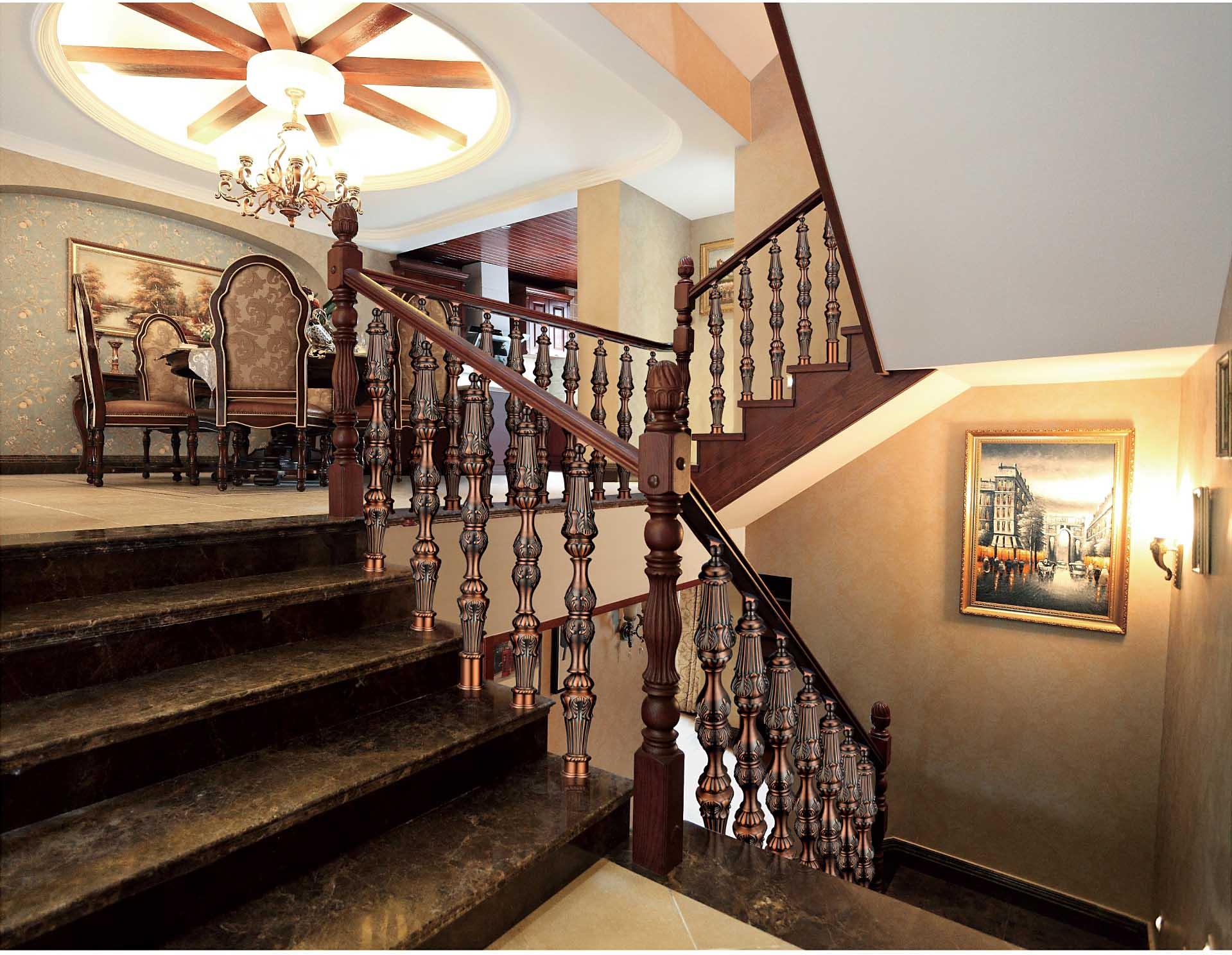 FLA021西城丽苑/楼梯护栏/金属楼梯/复式豪宅楼梯护栏