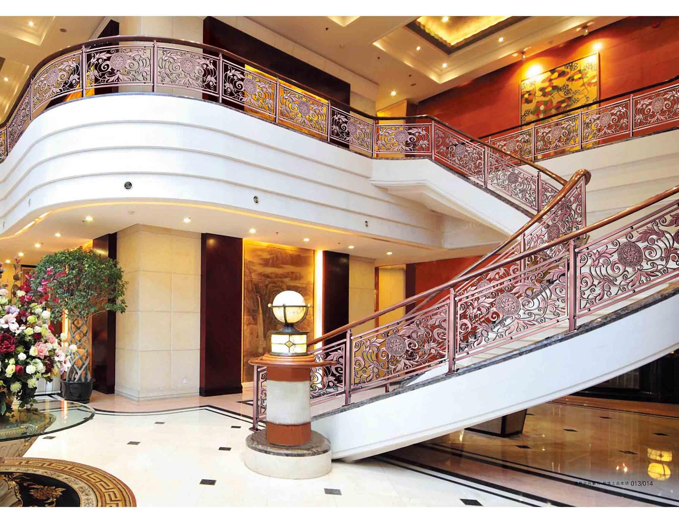 JLA003香槟王国/楼梯护栏/铜艺楼梯/酒店楼梯护栏