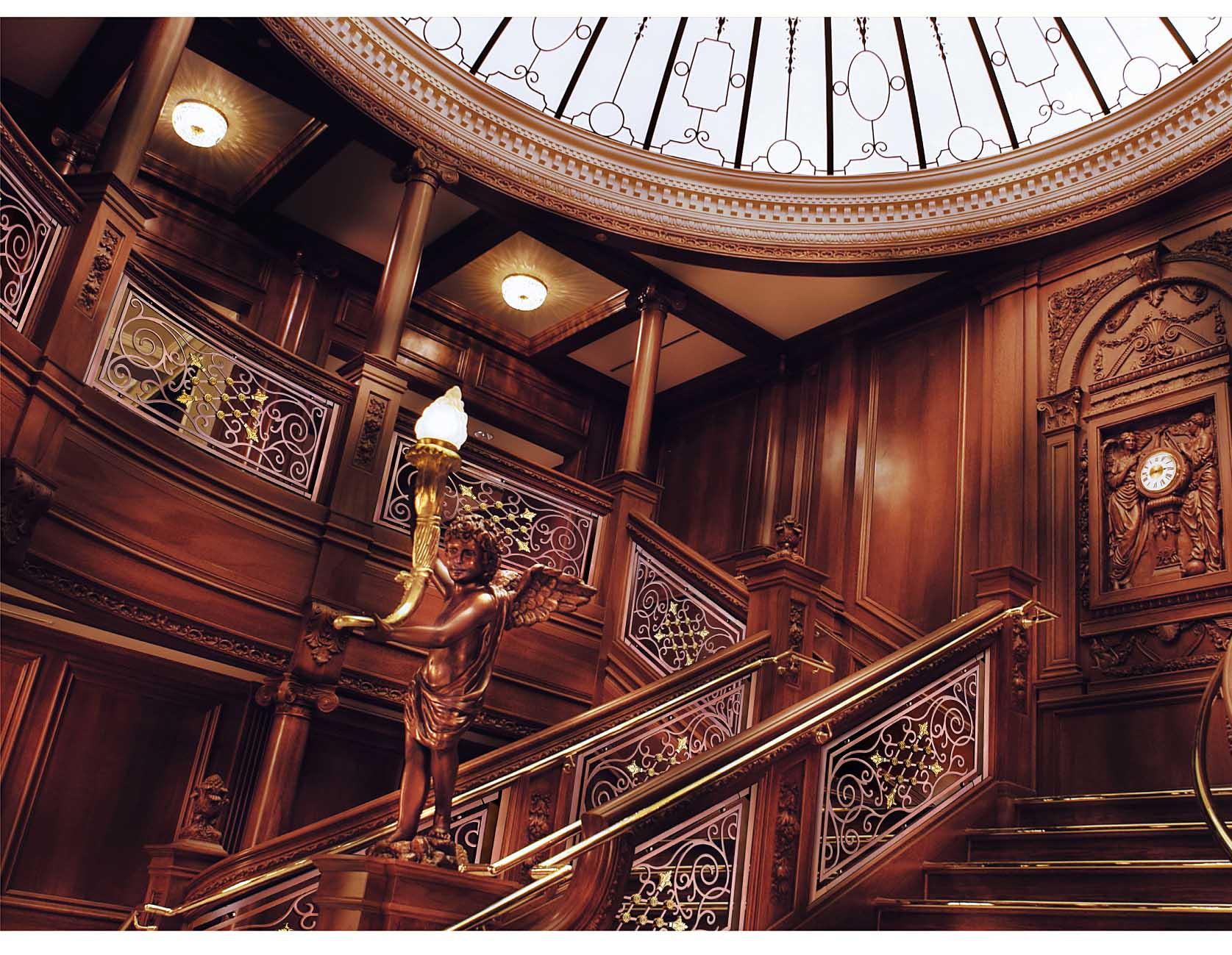 JLA006玫瑰公馆/楼梯护栏/铜艺楼梯/酒店楼梯护栏
