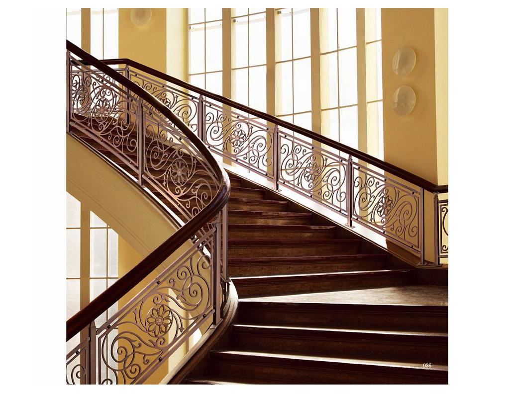JLB011楼兰公主/楼梯护栏/铜艺楼梯/酒店楼梯护栏