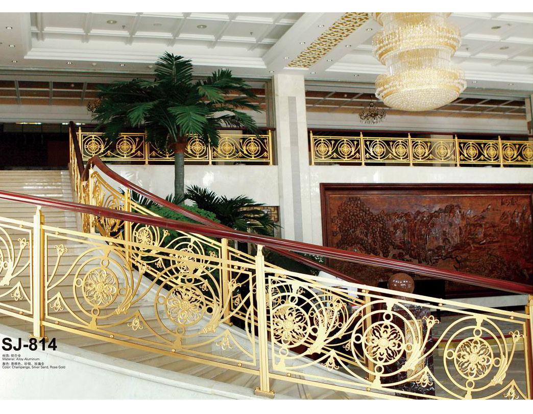 JLB016花团锦簇/楼梯护栏/铜艺楼梯/酒店楼梯护栏