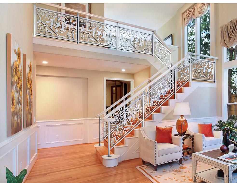 FLB008简约人生/楼梯护栏/铜艺楼梯/复式豪宅楼梯护栏
