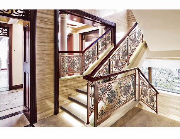 FLB012特洛伊娃/楼梯护栏/铜艺楼梯/复式豪宅楼梯护栏
