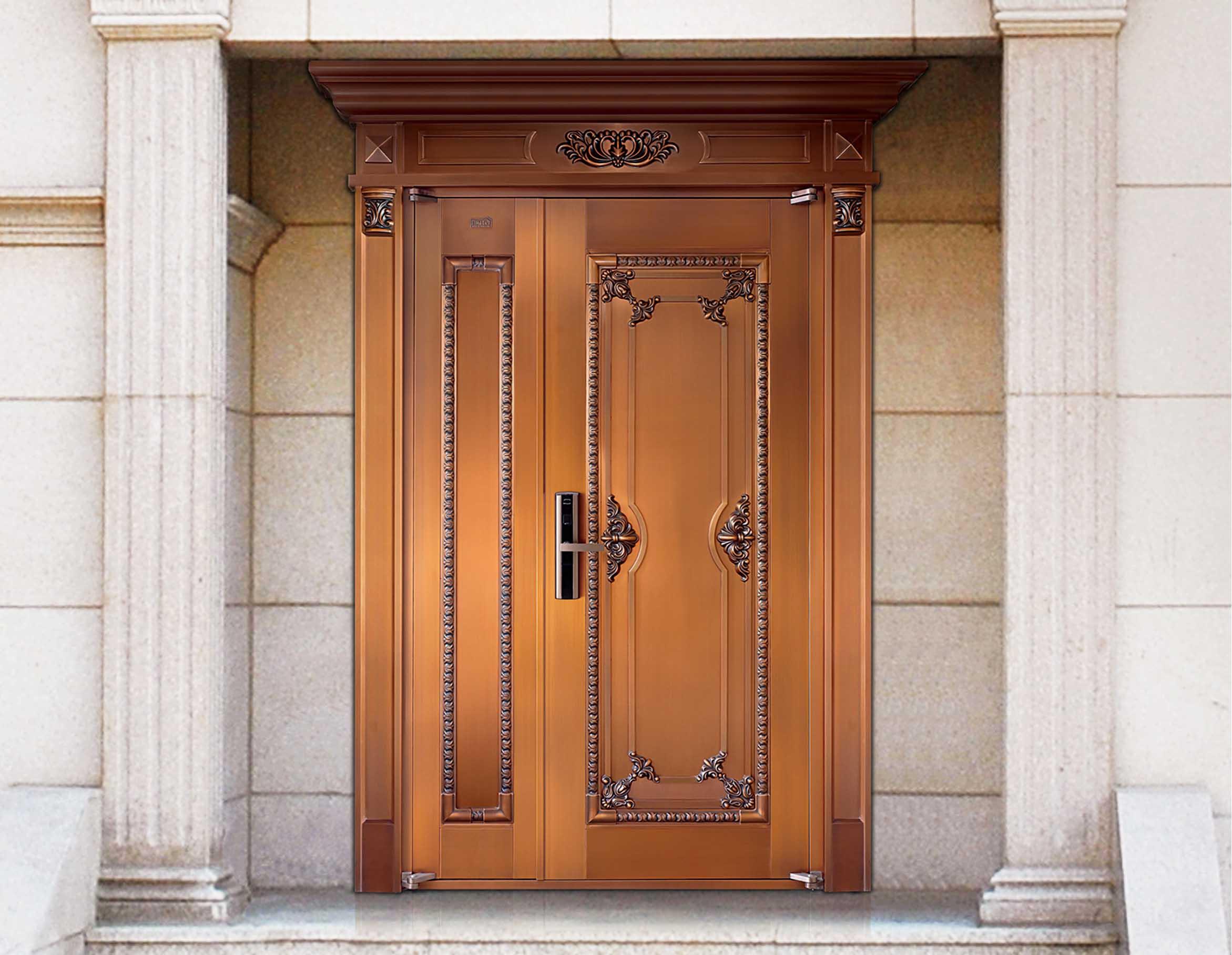 M005一帆风顺,子母铜门,铜门子母门