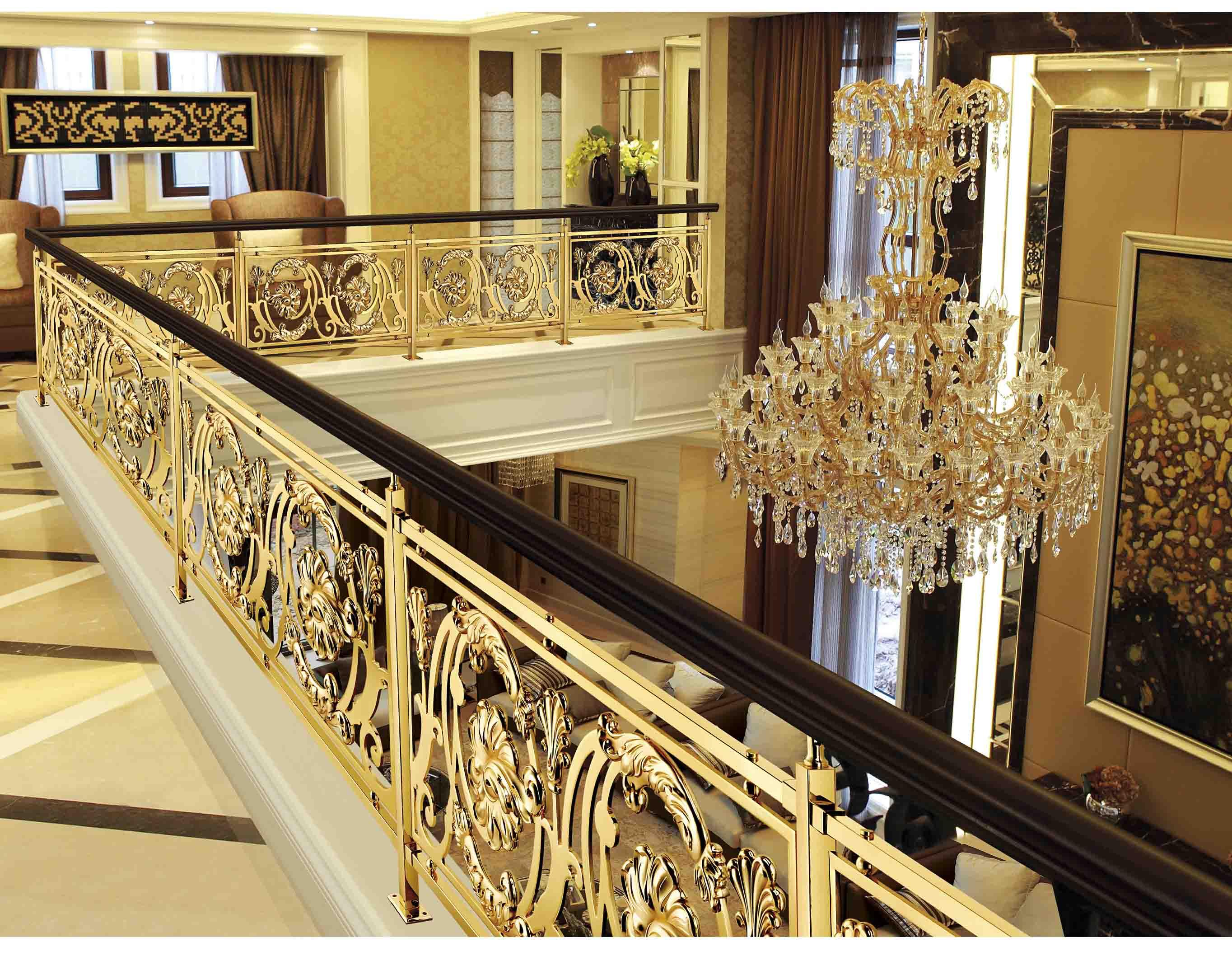 A027贵族世家/铜扶手/铜护栏/铜艺楼梯/酒店楼梯护栏