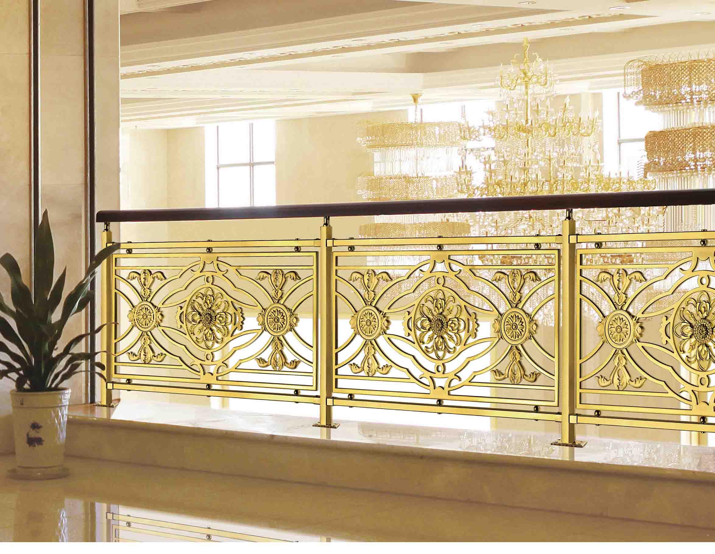 A024名流世家/铜扶手/铜护栏/铜艺楼梯/酒店楼梯护栏