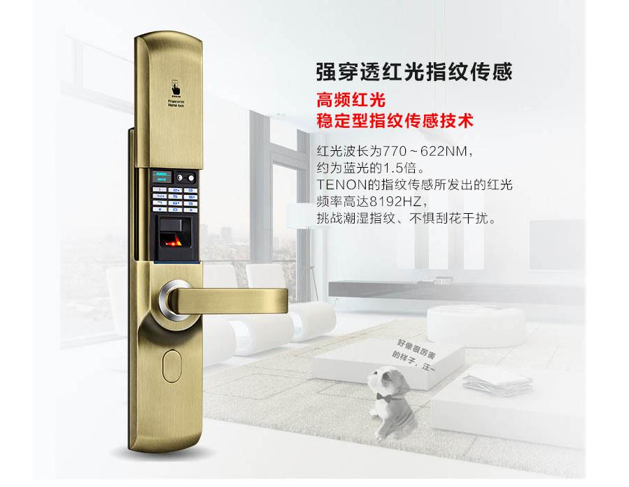 F3158指纹密码锁/家用电子锁/科技智能锁
