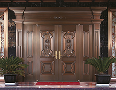 L007亚历山大,别墅铜门,豪华铜门,四开铜门