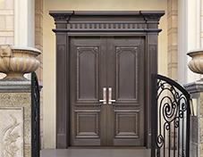 K015大爱无边,别墅铜门,豪华铜门,双开铜门
