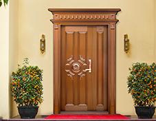 M006帝湖海湾,子母铜门,铜门子母门,室外门