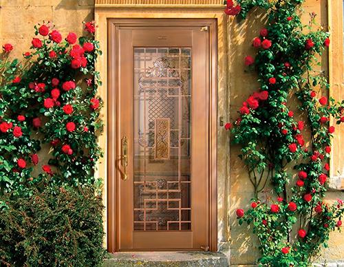H027春暖花开,铜门套门,单扇铜门,真铜门