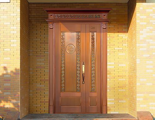 M018风华绝代,子母铜门,铜门子母门,室外门
