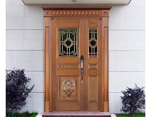 M027天下无双,子母铜门,铜门子母门,室外门