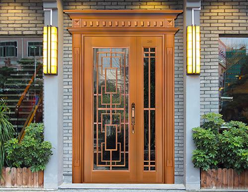 M030唯我独尊,子母铜门,铜门子母门,室外门