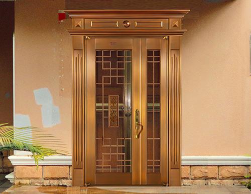 M033学富五车,子母铜门,铜门子母门,室外门