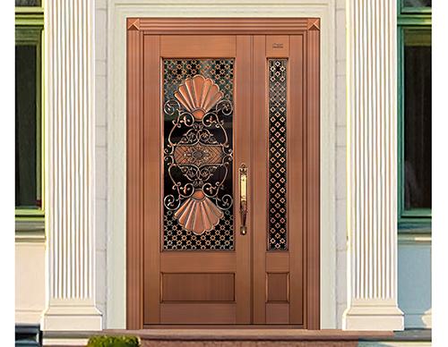 M036倾国倾城,子母铜门,铜门子母门,室外门