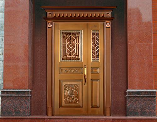 M037凌云壮志,子母铜门,铜门子母门,室外门