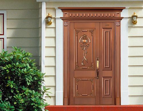 H005凤凰飞来,子母铜门,铜门子母门,室外门