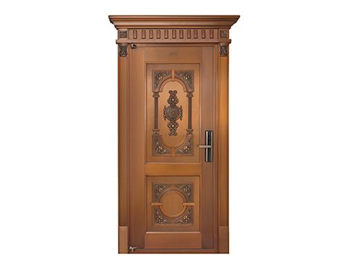H003宁静致远,真铜门,单开铜门,单扇铜门